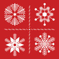 Nordic Style SNowflakes Stock Photos