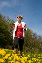 Nordic walking 1 Stock Photography