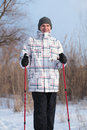 Nordic walking Stock Images