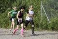 Nordic walking competition international german championship half marathon in roding Stock Photography
