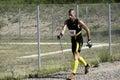 Nordic walking competition international german championship half marathon in roding Royalty Free Stock Image