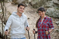 Nordic Walking couple Stock Photography