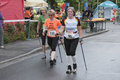 Nordic walking european championship in roding Royalty Free Stock Photography