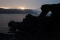 Nordkapp midnight sun Stock Photos