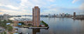 Norfolk and Elizabeth River panorama, Virginia Royalty Free Stock Photo