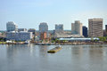 Norfolk Skyline, Virginia Stock Photos