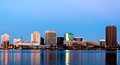 Norfolk Virginia Skyline Stock Photos