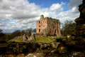 Norham castle view of northumberland england Stock Image