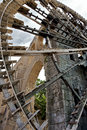 Noria water wheel in the city of Hama, Syria Stock Photo