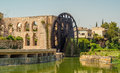 Norias of hama at river orontes Royalty Free Stock Images