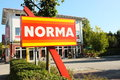 Norma outside view of a discounter in germany Stock Photography