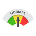 Normal level risk gauge vector icon.