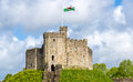 Norman Keep of Cardiff Castle Royalty Free Stock Photo