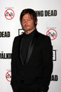 Norman reedus the dead at premiere of amc s walking rd season universal citywalk universal city ca Royalty Free Stock Photos