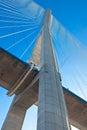 Normandy bridge (Pont de Normandie, France) Stock Image