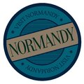 Normandy geographic stamp