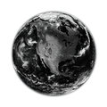 North america on black earth planet isolated white background elements of this image furnished by nasa Stock Photography