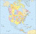 North America Map Royalty Free Stock Photo