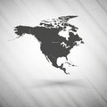 North america map on gray background, grunge Royalty Free Stock Photo