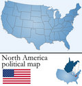 North America political map Royalty Free Stock Photography