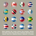 North America round flags Royalty Free Stock Photo
