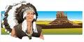 Sever americký indický nosenie tradičný čelenka