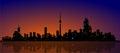 North American Metropolis Skyline Urban City Drama Royalty Free Stock Photo