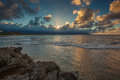 Tropical Sunset on Oahu Hawaii Royalty Free Stock Photo