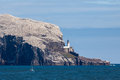 North berwick firth of forth scotland august view of bas bass rock in near on Stock Image