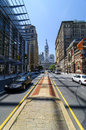 North broadway view of city hall in philadelphia pa june s Stock Photography