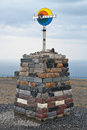 North Cape sign. Norway. Stock Photography