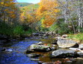 North Carolina Appalachian mountains in fall with river Royalty Free Stock Photo