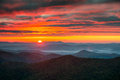North Carolina Blue Ridge Parkway Autumn Sunrise Mountains Royalty Free Stock Photo