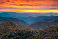 North Carolina Blue Ridge Parkway Mountains Sunset Scenic Landsc Royalty Free Stock Photo