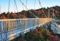 North Carolina Mile High Swinging Bridge Grandfather Mountain Royalty Free Stock Photo
