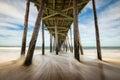 North Carolina Outer Banks Beach Seascape Nags Head OBX NC Royalty Free Stock Photo