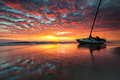 North carolina outer banks obx shipwreck sunrise s the diamond shoals of the barrier islands in the of claim another ship beneath Stock Images