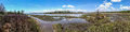 North carolina tidewater near swansboro nc panoramic view of marshy area on a sunny day Stock Images