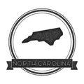 North Carolina vector map stamp.