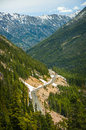 North cascades highway the also known as travels along a stretch called rainy pass through evergreen forests and dramatic Stock Images