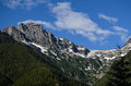 North cascades national park colonial peak on a sunny day with clouds washington state Stock Photo