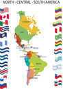 North Central South America. Stock Photo