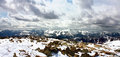 North chuya range altai view of the ridge from the top of the dome of the three lakes aktru Royalty Free Stock Photo