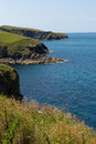 North cornwall coast from port isaac to padstow and polzeath england facing direction of Royalty Free Stock Photos
