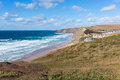 North Cornwall coast Watergate Bay England UK Cornish surfing beach between Newquay and Padstow Royalty Free Stock Photo