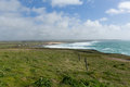 North Cornwall Trevose Head south in direction of Constantine Bay and Newquay Royalty Free Stock Photo