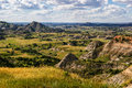 North dakota badlands clouds dramatize the in theodore roosevelt national park Royalty Free Stock Photos