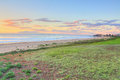 North entrance beach australia looking south at sunrise the entire stretch of this is klm long finishing at pelican point Royalty Free Stock Image