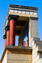 North entrance to the Palace of Knossos Royalty Free Stock Images