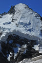 North face of Dent d'Herens with Ice Cliffs Stock Image